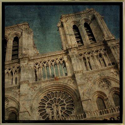 'Notre Dame' Graphic Art Print Format: Gold Metal Framed Paper, Size: 6