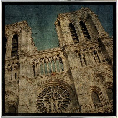 'Notre Dame' Graphic Art Print Format: Silver Metal Framed Paper, Size: 6