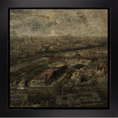 'Paris Skyline I' Graphic Art Print Format: Affordable Black Large Framed Paper, Size: 6