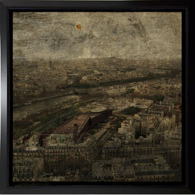 'Paris Skyline I' Graphic Art Print Format: Budget Saver Framed Paper, Size: 6