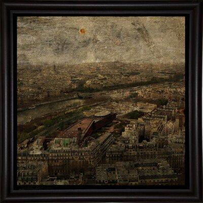 'Paris Skyline I' Graphic Art Print Format: Bistro Espresso Framed Paper, Size: 6