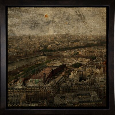 'Paris Skyline I' Graphic Art Print Format: Cafe Espresso Framed Paper, Size: 6