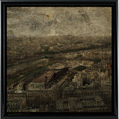 'Paris Skyline I' Graphic Art Print Format: Black Metal Framed Paper, Size: 6
