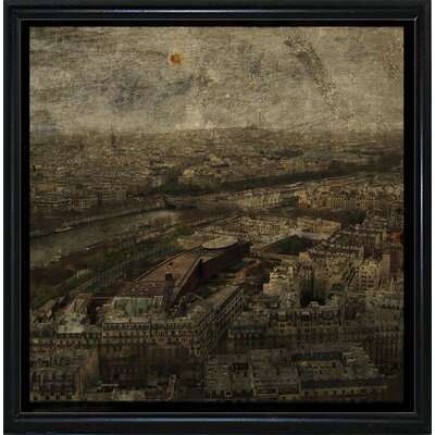 'Paris Skyline I' Graphic Art Print Format: Flat Black Metal Framed Paper, Size: 6