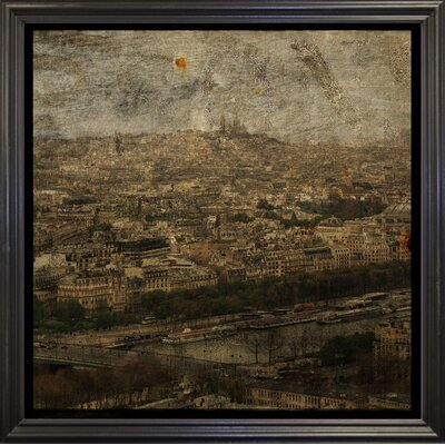 'Paris Skyline II' Graphic Art Print Format: Black Grande Framed Paper, Size: 6