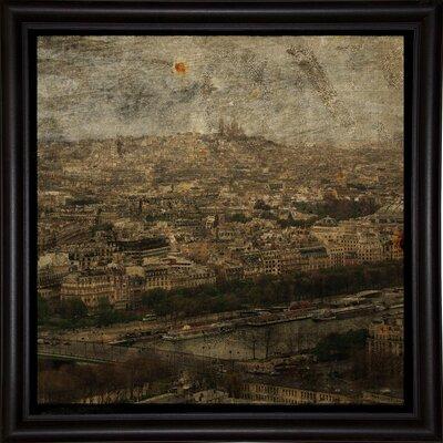 'Paris Skyline II' Graphic Art Print Format: Bistro Espresso Framed Paper, Size: 6