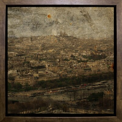'Paris Skyline II' Graphic Art Print Format: Cafe Mocha Framed Paper, Size: 6