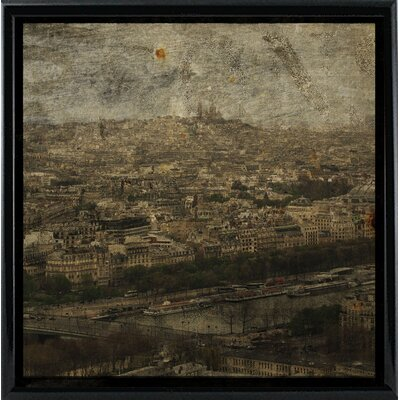 'Paris Skyline II' Graphic Art Print Format: Black Metal Framed Paper, Size: 6