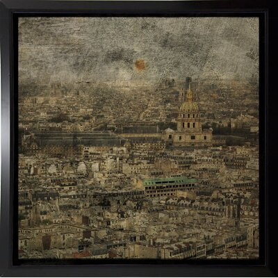 'Paris Skyline III' Graphic Art Print Format: Budget Saver Framed Paper, Size: 6