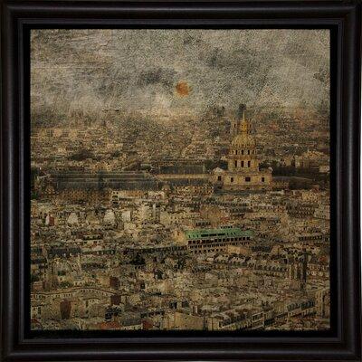 'Paris Skyline III' Graphic Art Print Format: Bistro Espresso Framed Paper, Size: 6