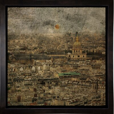 'Paris Skyline III' Graphic Art Print Format: Cafe Espresso Framed Paper, Size: 6