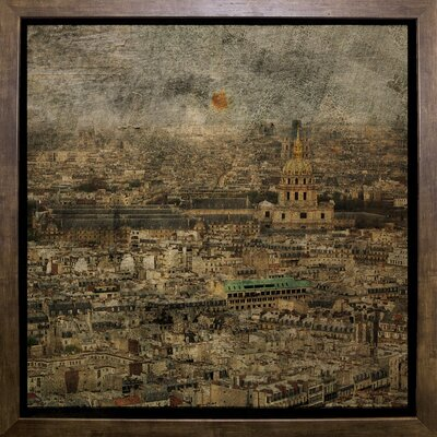 'Paris Skyline III' Graphic Art Print Format: Cafe Mocha Framed Paper, Size: 6