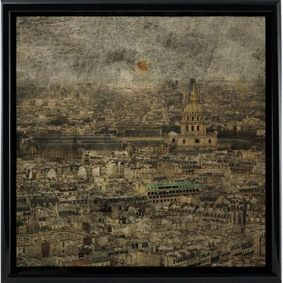'Paris Skyline III' Graphic Art Print Format: Black Metal Framed Paper, Size: 6