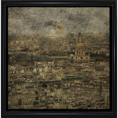 'Paris Skyline III' Graphic Art Print Format: Flat Black Metal Framed Paper, Size: 6