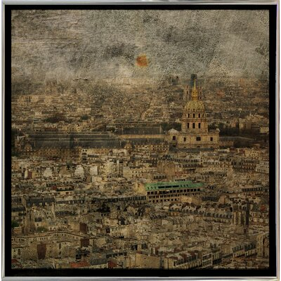 'Paris Skyline III' Graphic Art Print Format: Silver Metal Framed Paper, Size: 6