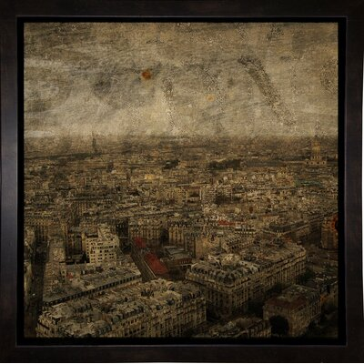 'Paris Skyline IV' Graphic Art Print Format: Affordable Black Medium Framed Paper, Size: 6