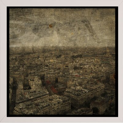 'Paris Skyline IV' Graphic Art Print Format: Affordable White Medium Framed Paper, Size: 6