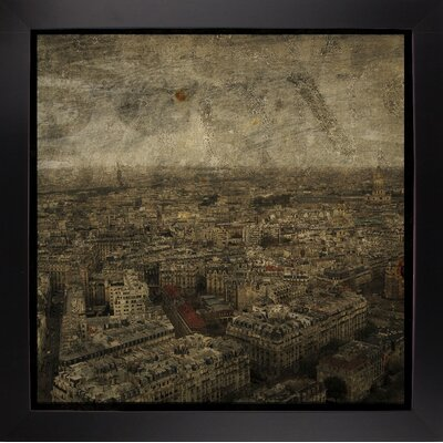'Paris Skyline IV' Graphic Art Print Format: Affordable Black Large Framed Paper, Size: 6