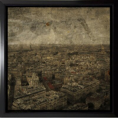 'Paris Skyline IV' Graphic Art Print Format: Budget Saver Framed Paper, Size: 6