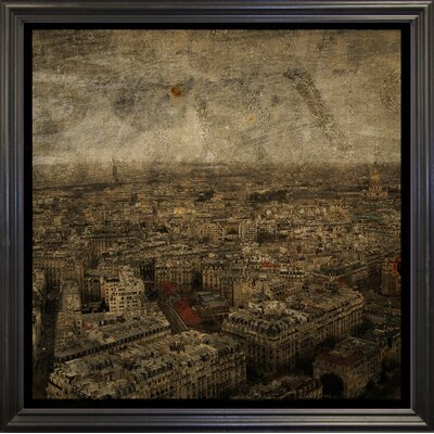 'Paris Skyline IV' Graphic Art Print Format: Black Grande Framed Paper, Size: 6