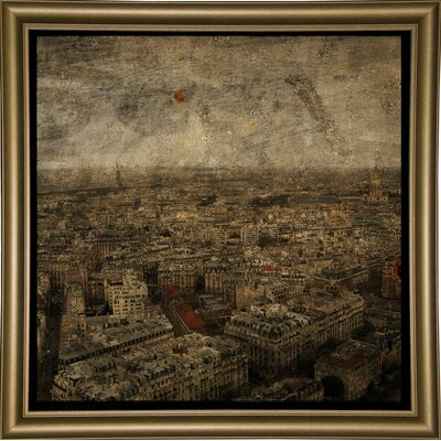 'Paris Skyline IV' Graphic Art Print Format: Bistro Gold Framed Paper, Size: 6