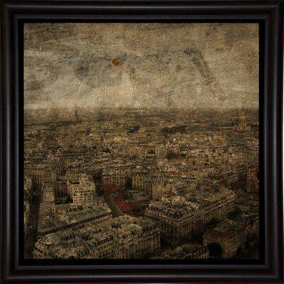'Paris Skyline IV' Graphic Art Print Format: Bistro Espresso Framed Paper, Size: 6