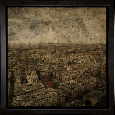 'Paris Skyline IV' Graphic Art Print Format: Cafe Espresso Framed Paper, Size: 6