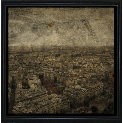 'Paris Skyline IV' Graphic Art Print Format: Flat Black Metal Framed Paper, Size: 6