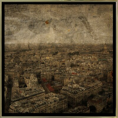 'Paris Skyline IV' Graphic Art Print Format: Gold Metal Framed Paper, Size: 6