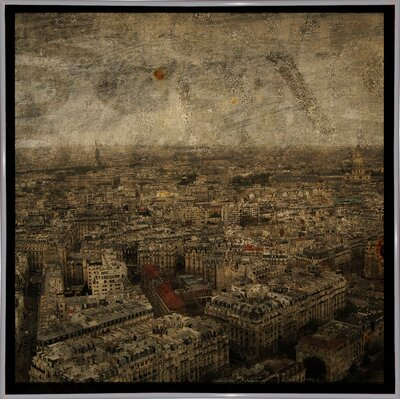 'Paris Skyline IV' Graphic Art Print Format: White Metal Framed Paper, Size: 6
