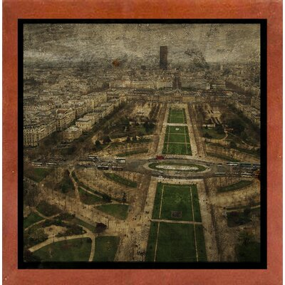'Paris Skyline V' Graphic Art Print Format: Affordable Canadian Walnut Medium Framed Paper, Size: 6