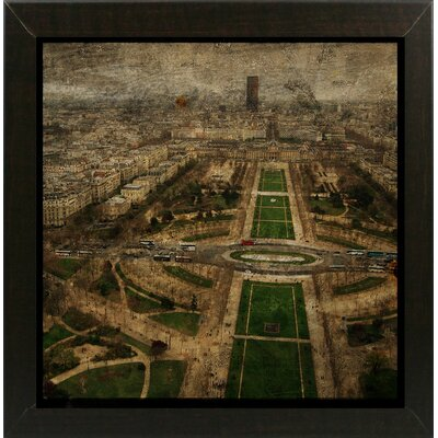 'Paris Skyline V' Graphic Art Print Format: Affordable Brazilian Walnut Medium Framed Paper, Size: 6
