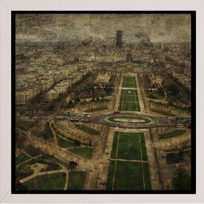 'Paris Skyline V' Graphic Art Print Format: Affordable White Medium Framed Paper, Size: 6