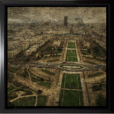 'Paris Skyline V' Graphic Art Print Format: Budget Saver Framed Paper, Size: 6