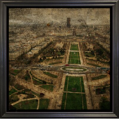 'Paris Skyline V' Graphic Art Print Format: Black Grande Framed Paper, Size: 6