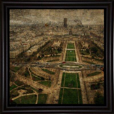 'Paris Skyline V' Graphic Art Print Format: Bistro Espresso Framed Paper, Size: 6