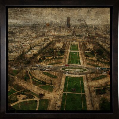 'Paris Skyline V' Graphic Art Print Format: Cafe Espresso Framed Paper, Size: 6