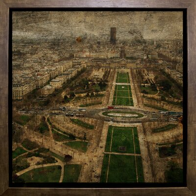 'Paris Skyline V' Graphic Art Print Format: Cafe Mocha Framed Paper, Size: 6