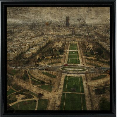 'Paris Skyline V' Graphic Art Print Format: Black Metal Framed Paper, Size: 6