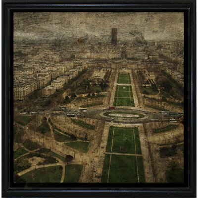 'Paris Skyline V' Graphic Art Print Format: Flat Black Metal Framed Paper, Size: 6