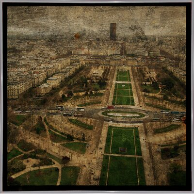 'Paris Skyline V' Graphic Art Print Format: White Metal Framed Paper, Size: 6
