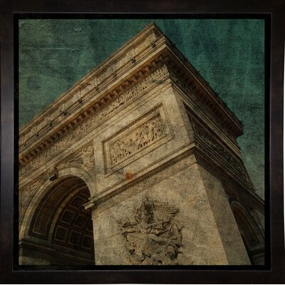 'Triomphe II' Graphic Art Print Format: Affordable Black Medium Framed Paper, Size: 6