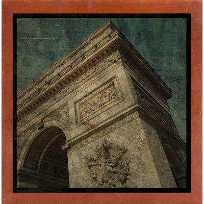'Triomphe II' Graphic Art Print Format: Affordable Canadian Walnut Medium Framed Paper, Size: 6