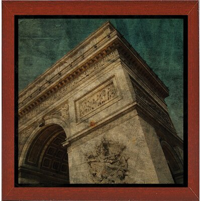 'Triomphe II' Graphic Art Print Format: Affordable Red Mahogany Medium Framed Paper, Size: 6