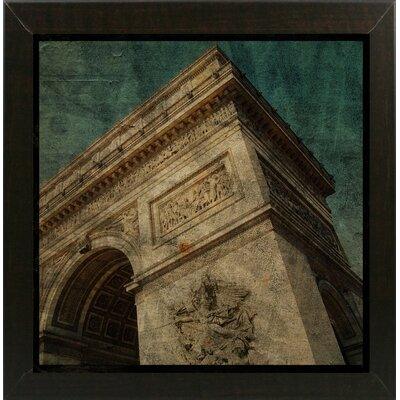 'Triomphe II' Graphic Art Print Format: Affordable Brazilian Walnut Medium Framed Paper, Size: 6