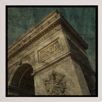'Triomphe II' Graphic Art Print Format: Affordable White Medium Framed Paper, Size: 6