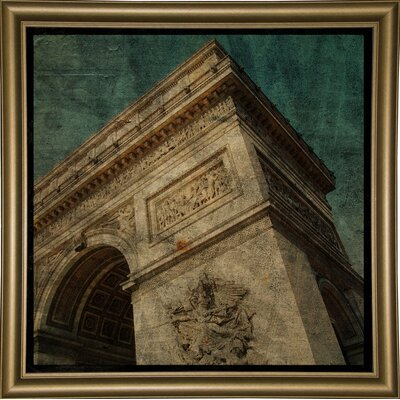 'Triomphe II' Graphic Art Print Format: Bistro Gold Framed Paper, Size: 6