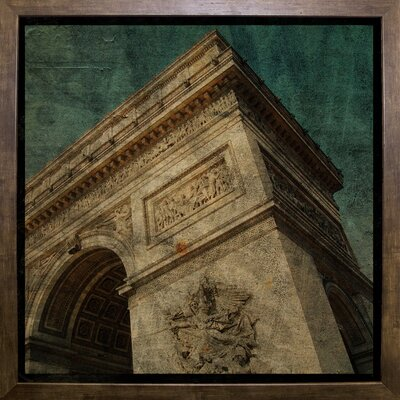 'Triomphe II' Graphic Art Print Format: Cafe Mocha Framed Paper, Size: 6