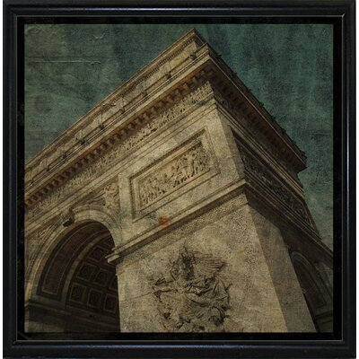 'Triomphe II' Graphic Art Print Format: Flat Black Metal Framed Paper, Size: 6