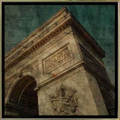 'Triomphe II' Graphic Art Print Format: Gold Metal Framed Paper, Size: 6